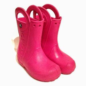 Crocs rain boots handles Sz. 13